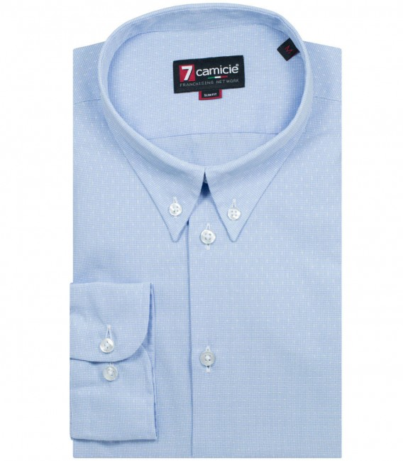Shirt Leonardo Poplin Light BlueWhite