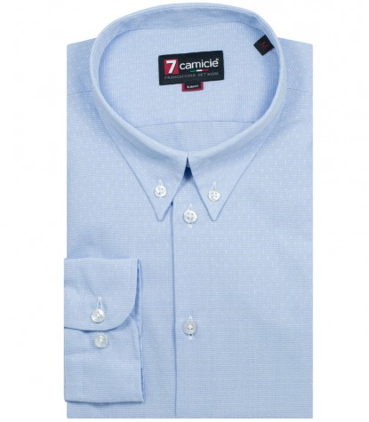 Shirt Leonardo Light BlueWhite