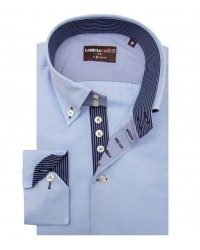 Shirt Roma Cotton Polyester Light Blue