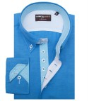 Shirt Roma Cotton Polyester Turquoise