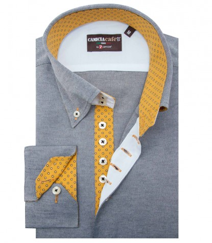 Shirt Roma Cotton Polyester Light Grey
