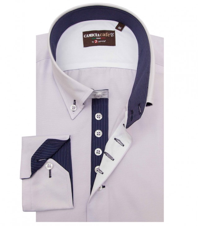 Shirt Roma Cotton Polyester Lilac