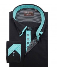 Shirt Marco Polo Cotton Polyester Black