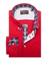 Chemises Marco Polo Coton Polyester rouge