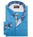 Shirt Marco Polo Cotton Polyester Turquoise