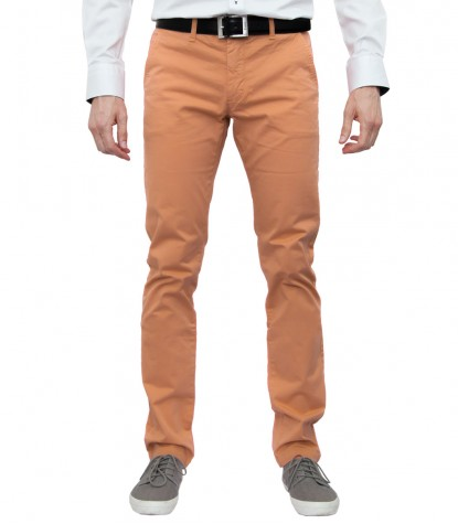 trousers Ischia cotton gabardine Orange