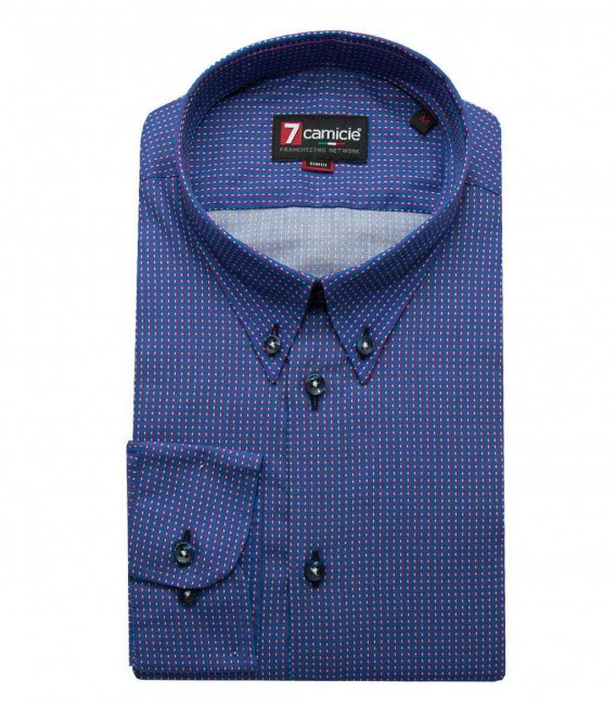 Shirt Leonardo Light Blue Red