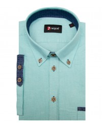 Shirt Leonardo Oxford Water Green
