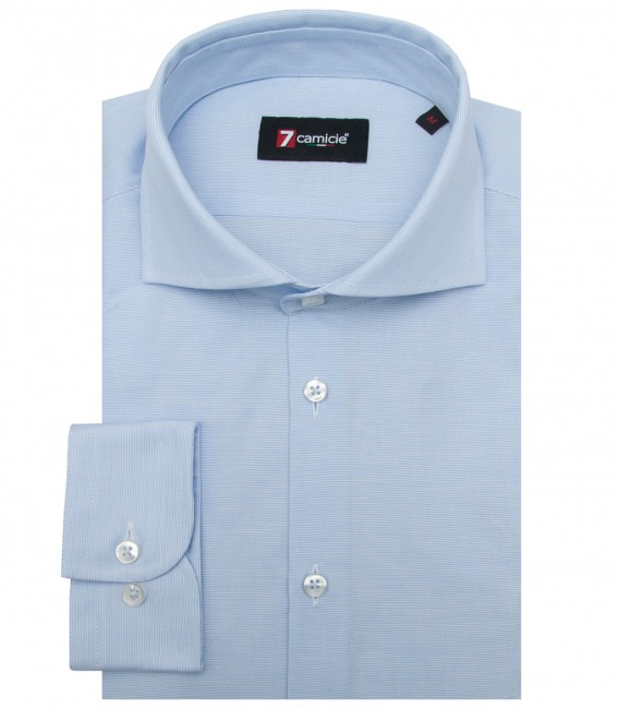 Shirt Firenze Cotton WhiteLite Blue