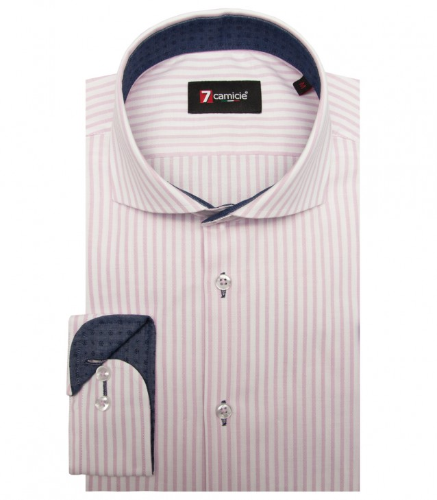 Camisas Firenze Oxford Branco Rosa