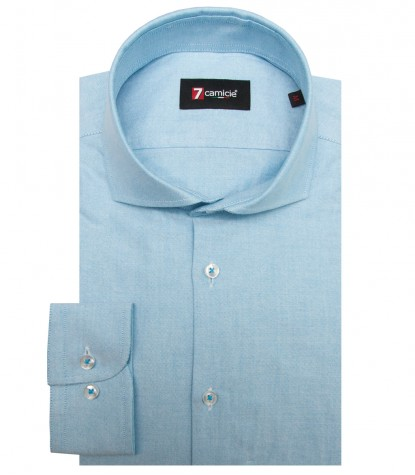 Camicia Firenze Oxford Turchese
