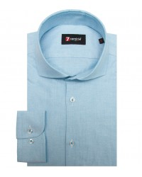 Chemises Firenze Oxford Turquoise