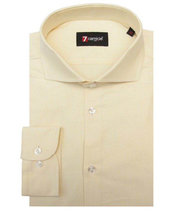 Camisas Firenze Oxford Amarillo