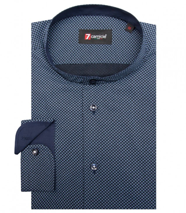 Shirt Caravaggio Cotton Blue Avion Blue