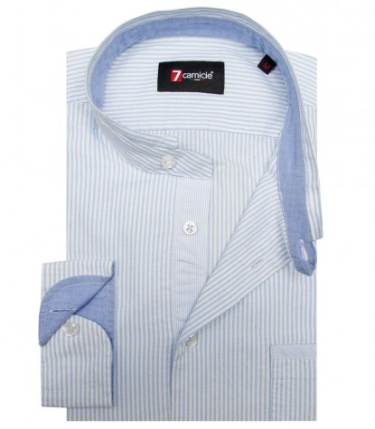 Shirt Caravaggio Oxford WhiteLite Blue