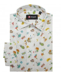 Shirt Paolo Cotton WhiteBrown