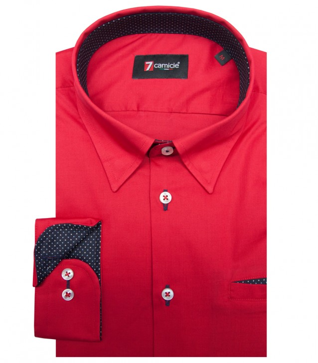 Shirt Leonardo stretch poplin Red