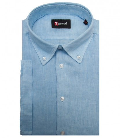 Shirt Leonardo Linen Light Blue
