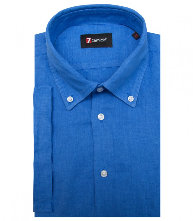 Shirt Leonardo Linen Ink Blue