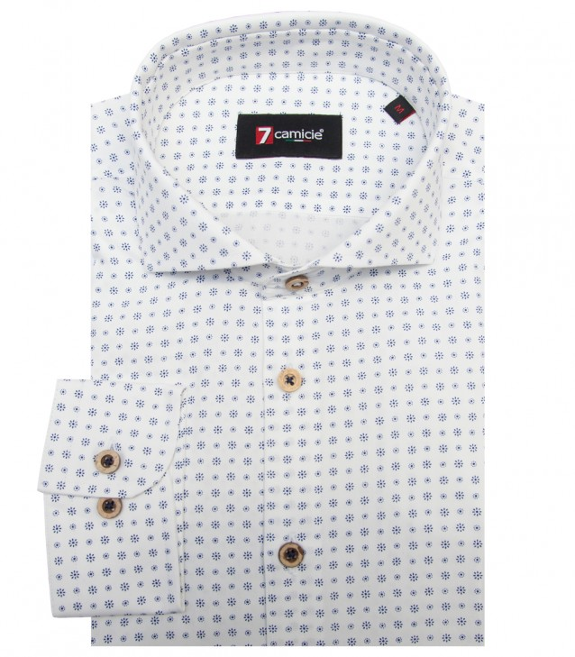 Shirt Firenze Cotton WhiteBlue