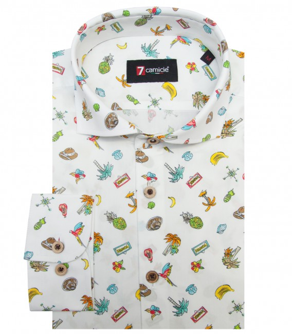 Shirt Firenze Cotton WhiteBrown