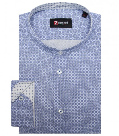 Shirt Caravaggio Cotton WhiteBlue