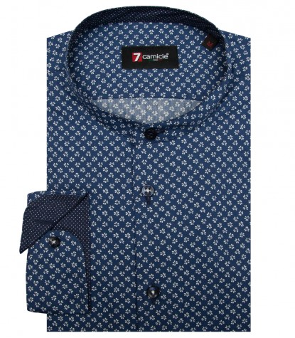 Shirt Caravaggio Cotton BlueWhite