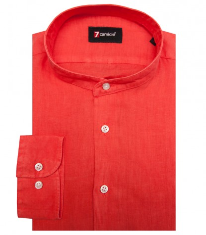 Shirt Caravaggio Linen Coral Red