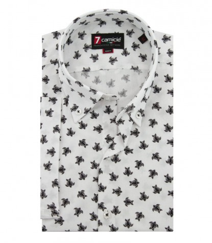 SHIRT LEONARDO WHITE AND BLACK