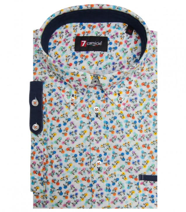 Shirt Leonardo Cotton WhiteFuchsia