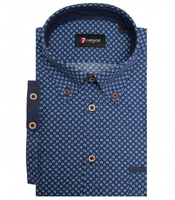 Shirt Leonardo Cotton BlueWhite