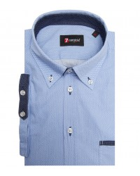 Shirt Leonardo Cotton Light Blue