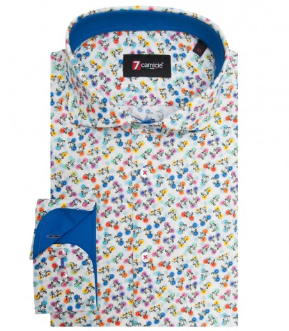 Shirt Firenze Cotton WhiteFuchsia
