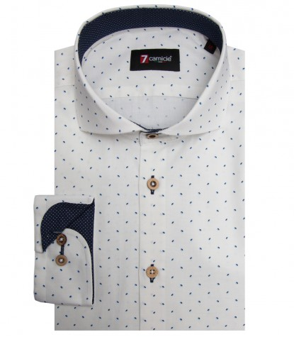 Chemises Firenze Oxford BlancBleu