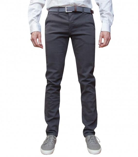 trousers Ischia twill Dark Grey