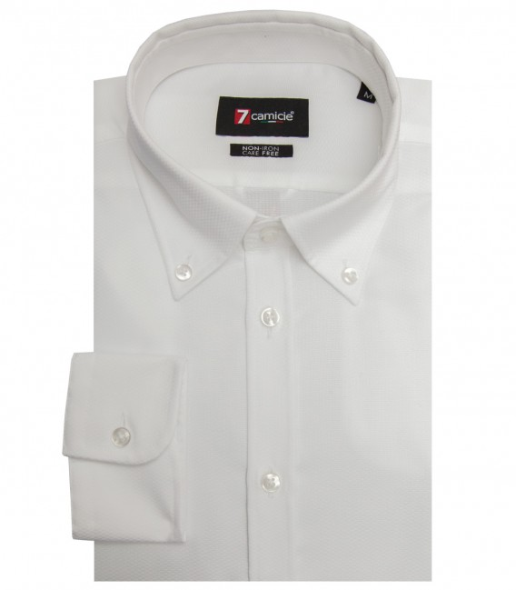 Shirt Leonardo Weaved White