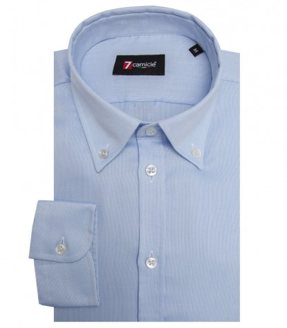 Shirt Leonardo Weaved Light Blue