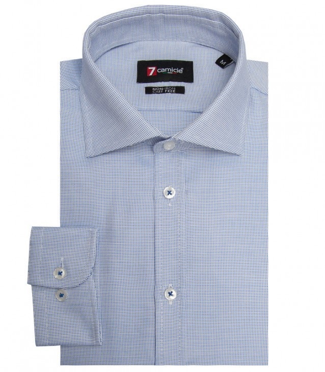 Shirt Firenze Weaved WhiteBlue