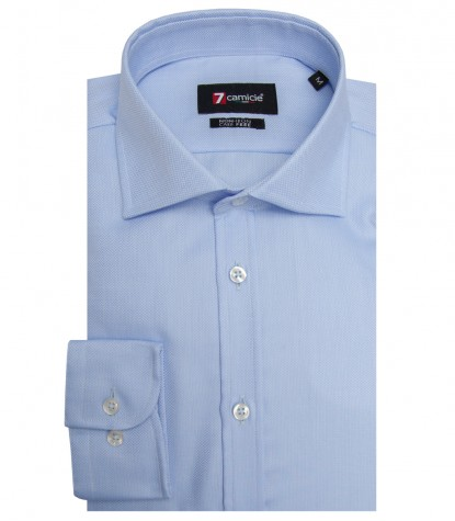 Shirt Firenze Weaved WhiteLite Blue