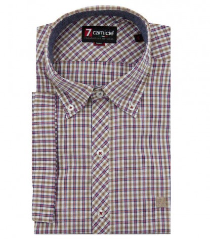 Shirt Leonardo white and brown