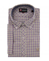 Shirt Leonardo Cotton white and brown
