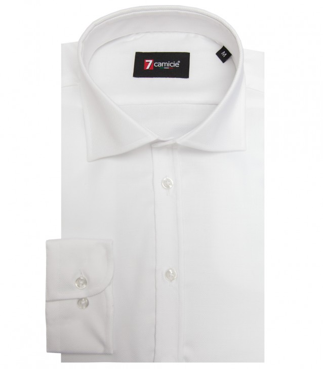 Shirt Stainproof Firenze twill White