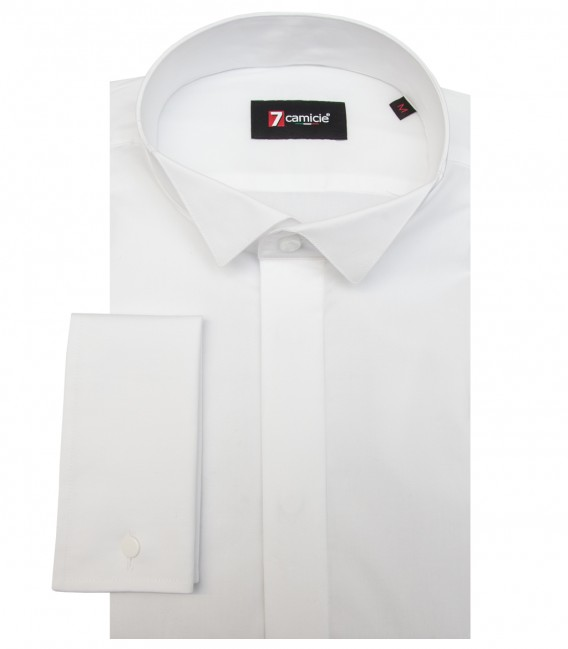 Shirt Milano stretch poplin White