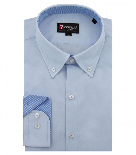 Shirt Leonardo poplin Light Blue