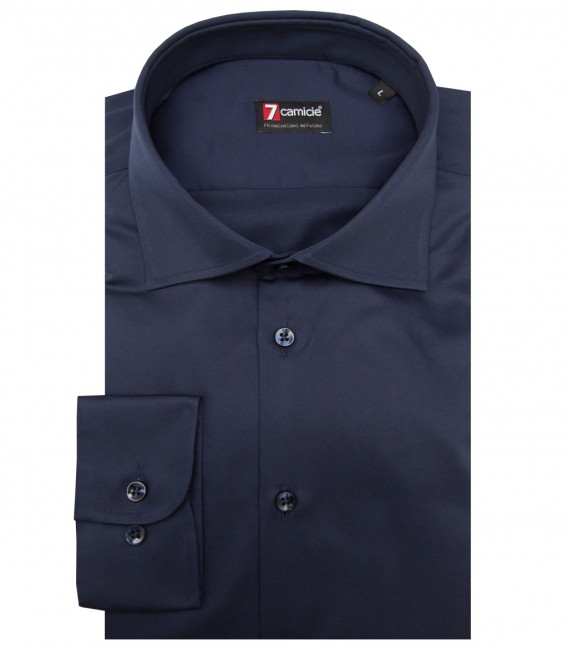 Shirt Firenze Satin Blu