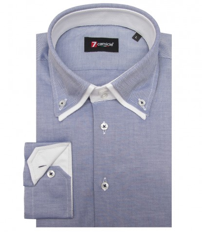 Camicia Marco Polo Oxford Blu