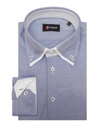Chemises Marco Polo Oxford Bleu