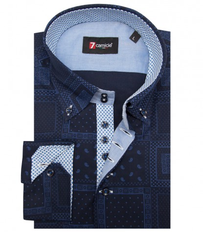 Shirt Roma Cotton BlueBlue