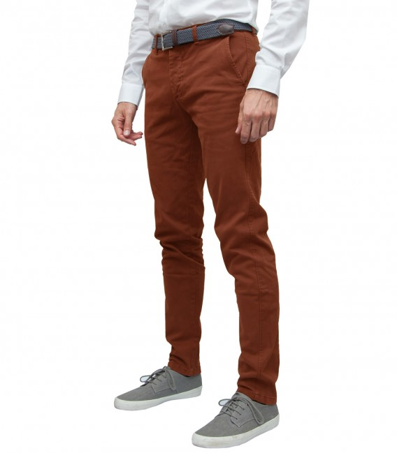 trousers Ischia twill Brick Orange