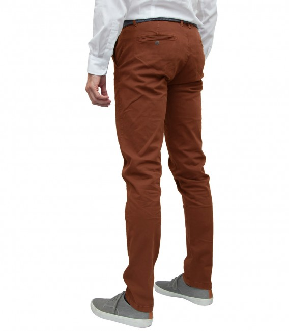 trousers Men twill full color Brick Orange 9001df59223